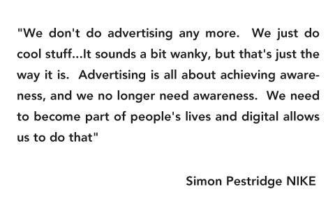 creatimes: Nike's point of view on advertising by Simon Pestridge, Brand Manager of Nike UK