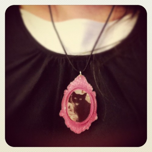 Very pleased with my necklace! MEOW! #cats #handmade :D (Taken with instagram)