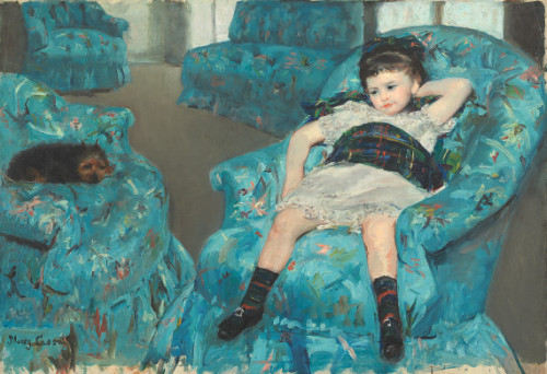 Little Girl in a Blue Armchair, 1878 - Mary Cassatt I forget how much i love her work and this painting!