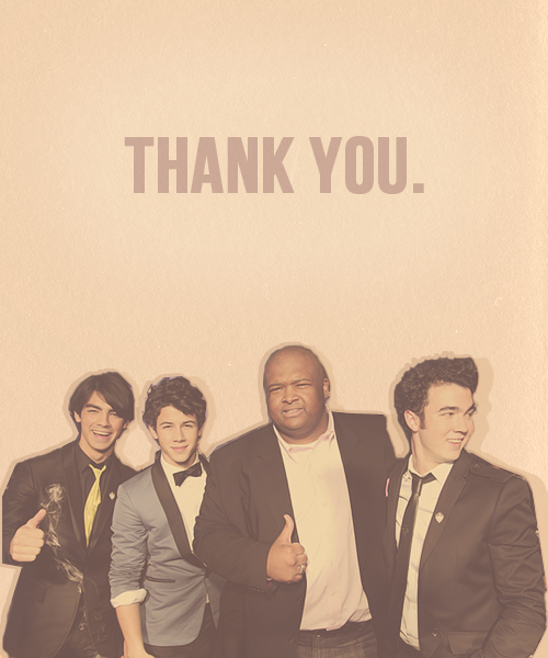 fallenforjonas:  thank you big rob, for all the years you were a security guard for our boys. thank you for protecting them through all the years. we love you so much.