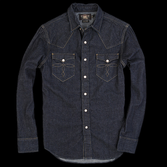 RRL denim western shirt @ Union Made.