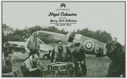 mistercrew:  Nigel Cabourn SS13 preview:  The Nigel Cabourn Spring Summer 2013 collection is an in depth study of clothing worn during sporting activities while serving in the Army. The SS13 collection is a culmination of cricket, athletics, soccer, rugby and gymnastics through style and fabrication. This SS13 season Nigel Cabourn will be collaborating with Converse on a specially developed gym shoe and Merz B Schwanen on gym style sweat shirts.