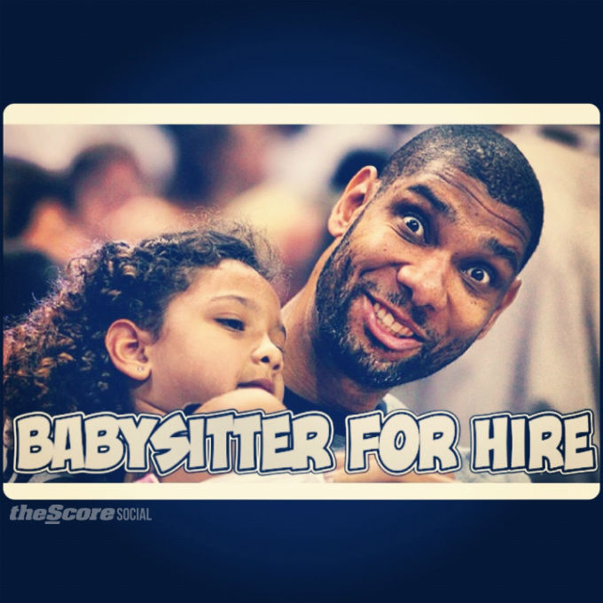 At least Tim Duncan's got his summer job lined up in case the Spurs are eliminated from the playoffs.