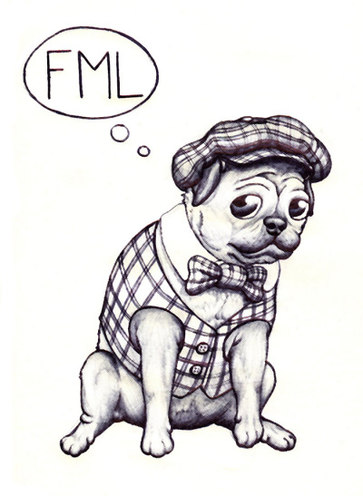 A Pug's Life… Submission for the 'Draw a Pet' Doodle Dojo! - Mark