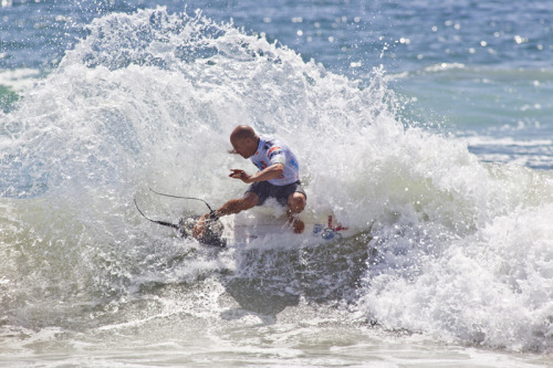 Kelly Slater takes First Place at the 2011 US Open of Surfing Men's Surf Championship in Huntington Beach, CA.