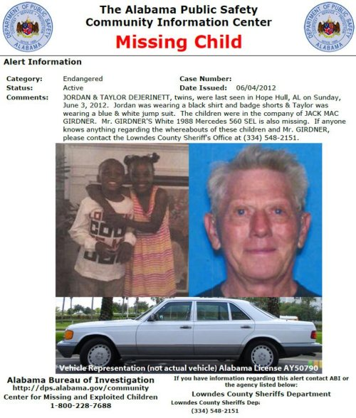 "rubyshimmer:  blackandmissing:  There is NO Amber Alert and the police believe the children are endangered. PLEASE SHARE. Do not let an image fool you, some kidnappers are described as ""quiet and nice"". The last thing we want to do is not share a story because of what the media is saying and they end up in a bad situation. The survival time for a missing child is 48 hours. The twins were taken SUNDAY. Their time is up. You all know that if they were a different color, they would be national news by now. That will not happen with this case if no one cares enough to SHARE! Please pass this story along even if you THINK they will be back home before we know it. Thanks for your help.  This story is real. I had not heard about it till now. I hope someone finds them. http://www.wtvm.com/story/18693962/2012/06/02/statewide-alert-issued-for-missing-kids-from-lowndes-county-al  All three of them have been found murdered =( Poor babies and condolences to families of both…."