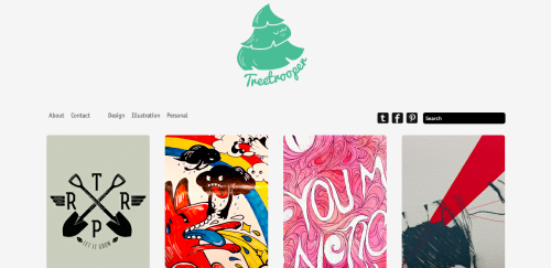 TREETROOPER- For those who don't already know, I've had my portfolio website up for a while now and I don't remember if I shared it with everyone on tumblr, but here it is!