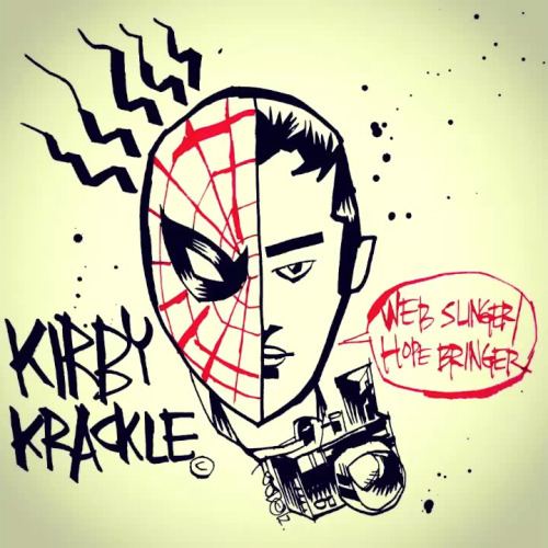 Via Dean Trippe (deantrippe): INCREDIBLE new Kirby Krackle song: Web-Slinger/Hope-Bringer has me and Field in super-hypenated-Spidey-dance-party-mode right now! (LISTEN TO THIS!) I love all these guys' songs, but this might be my favorite since Counting on You. :D