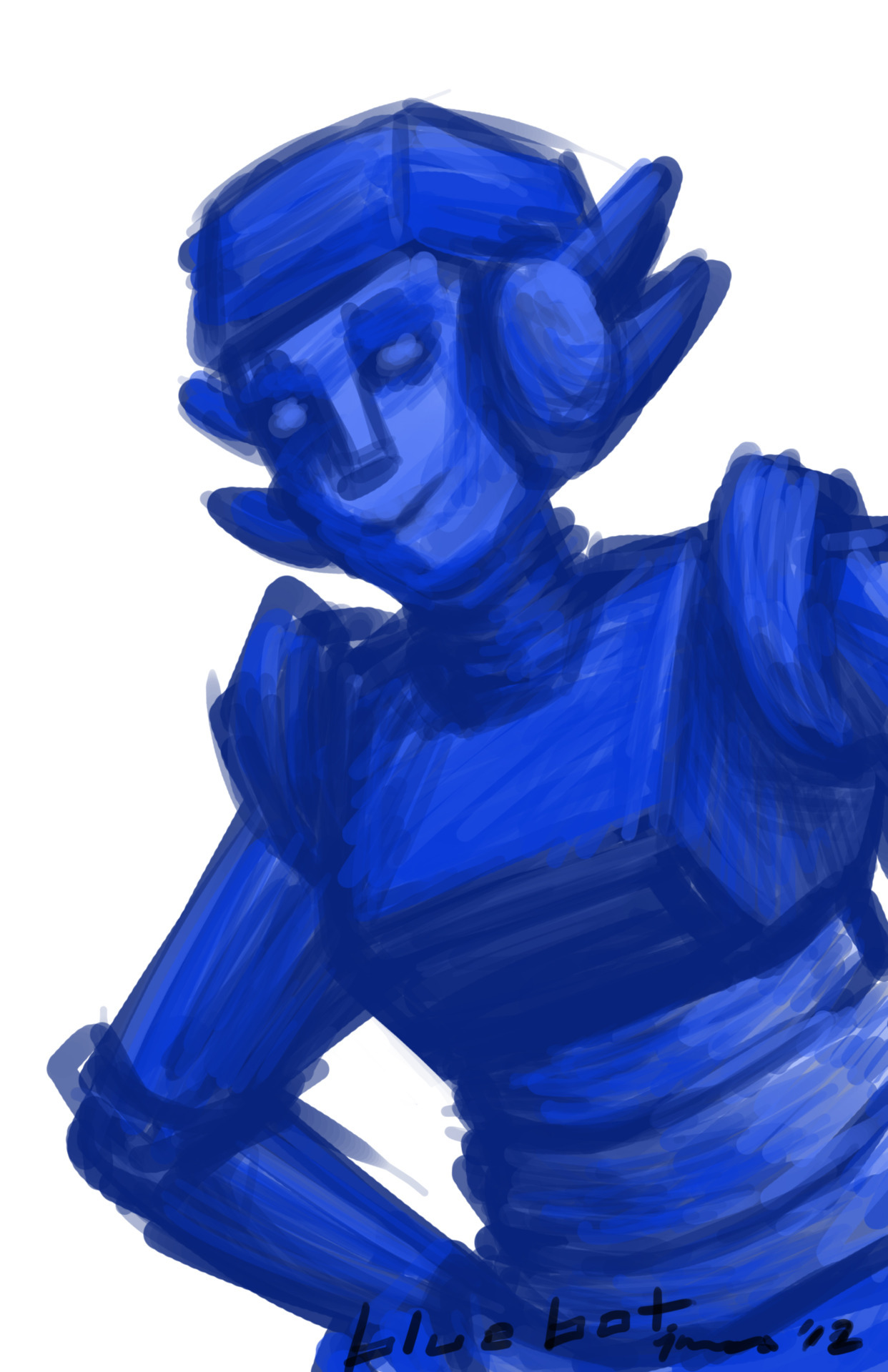 Bluebot speed…paint? I have no clue what to call it. I probably am speedpainting and just not knowing it. @____@""