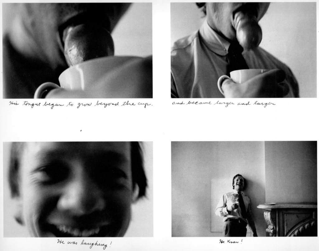 bangbangbangbangbang:  Watching George Drink a Cup of Coffee by Duane Michals