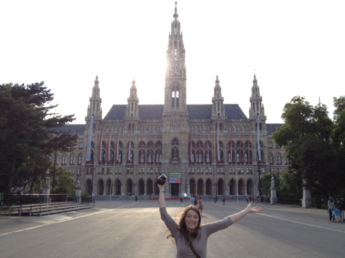 Vienna City Hall (and my sister)
