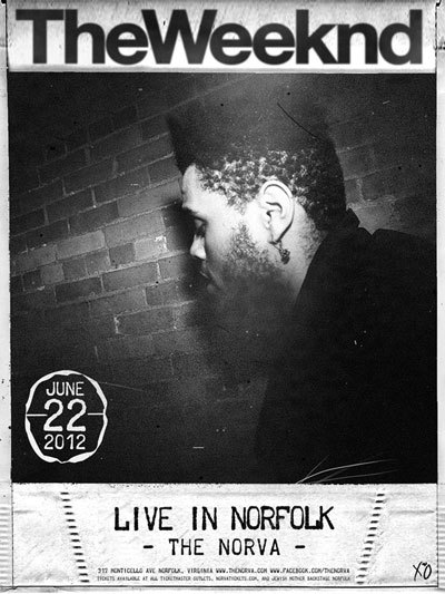 JUST ANNOUNCED An Evening With The Weeknd Friday, June 22nd at The NorVa Tickets on sale Wednesday, June 6th at all Ticketmaster Outlets, http://norvatickets.com, and The Jewish Mother Backstage.