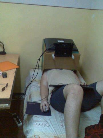 How the laziest person in the world plays video games.