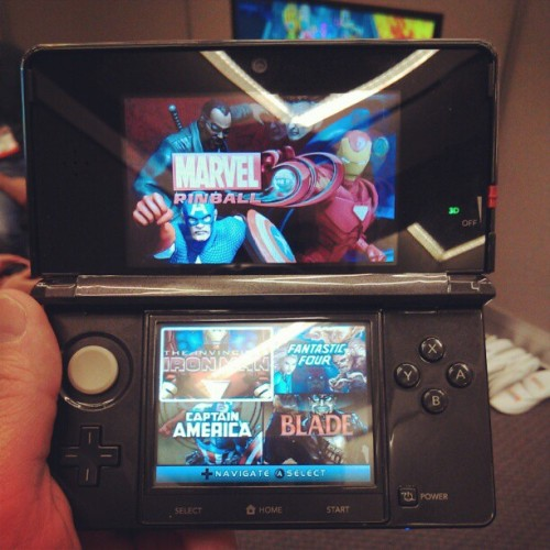 #MarvelPinball on the 3DS. Available later this summer. #E3 #gaming  (Taken with instagram)