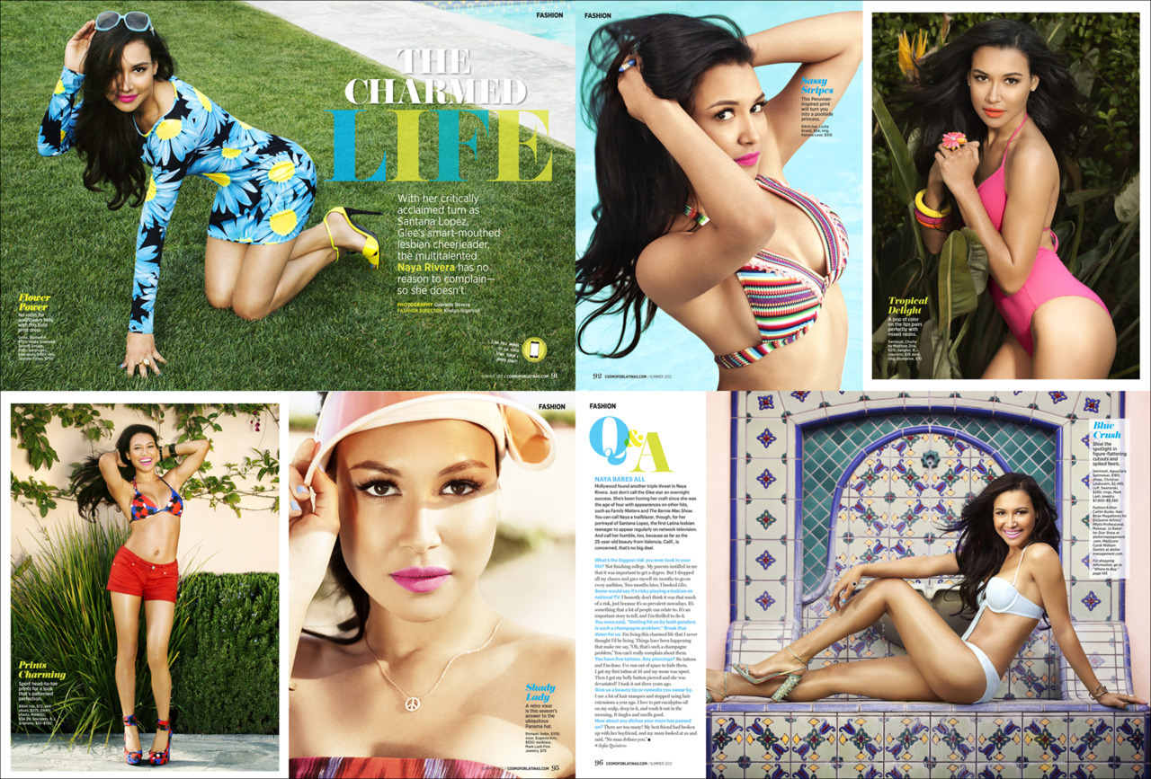 The lovely Miss. Naya Rivera. Photographed for Cosmo For Latinas Magazine.