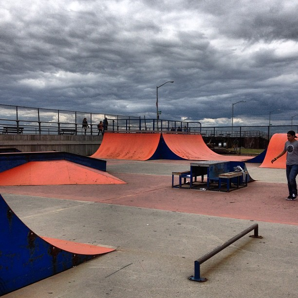 Rockaway park all morning #rockaway #skatepark #longisland (Taken with instagram)