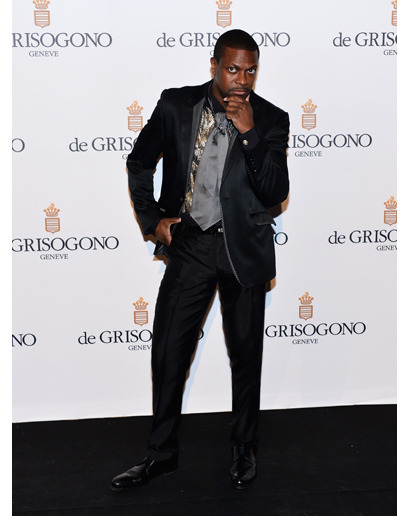 The Worst Dressed Men of the Month Chris, we love you, but what the hell is going on with that tie? See the rest here.