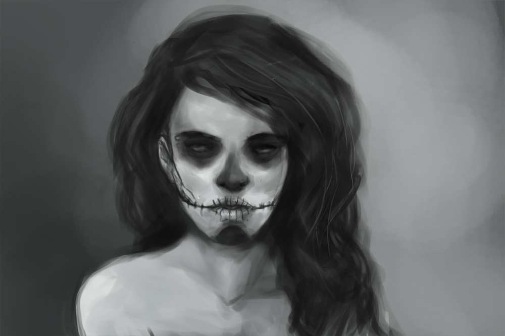 Speedpaint inspired after reading an awesome zombie story, although this doesn't really have anything to do with zombies…I just love calavera-style facepaint, haha. Looks way better in hi-res, by the way.