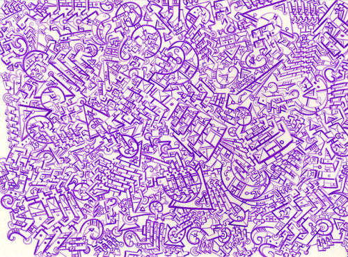 Purple Microdot Doodle by jdyf333 on Flickr.