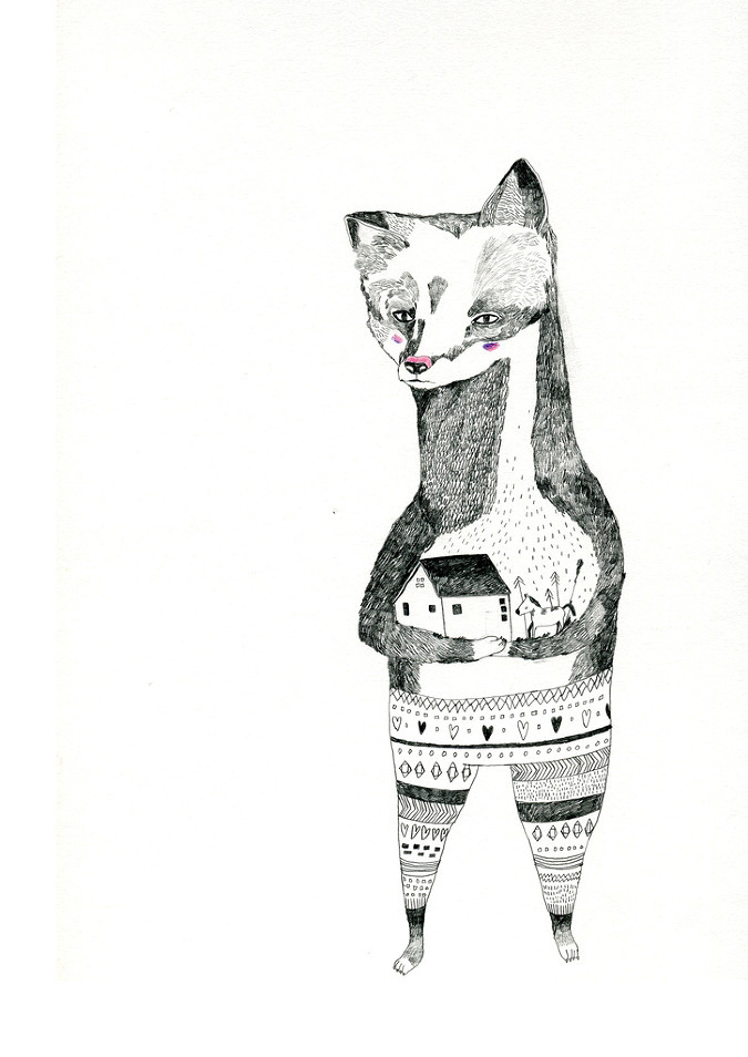 I love Illustrator and animator Julia Pott quirky little drawings, these are pieces from her sketch book. She creates really playful characters, and you can actually imagine them running around.