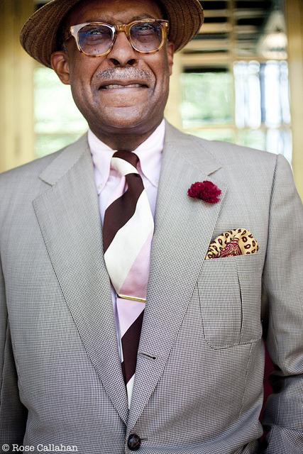 Dr. Andre Churchwell photographed by Rose Callahan in NYC on May 13, 2012 dandyportraits.blogspot.com/2012/06/seersucker-summer-wit…