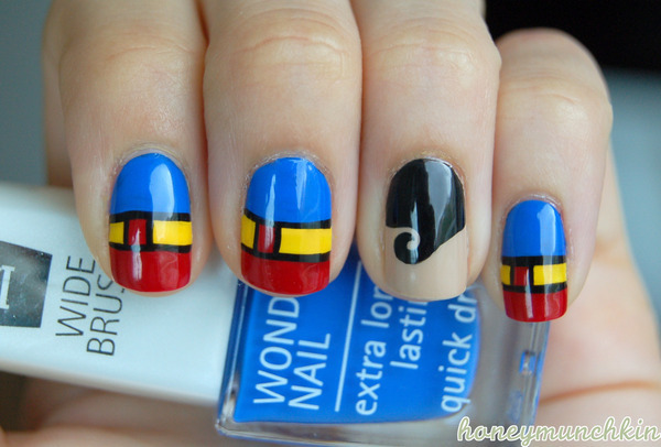 beautylish:  It's a bird…it's a plane… no, it's Superman nails by Emelie J.!