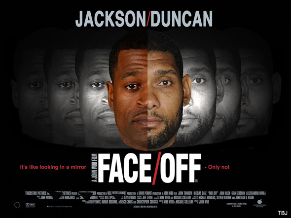 Stephen Jackson just needs to make a few changes to be Tim Duncan.