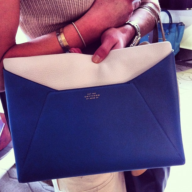 """Uber chic envelope clutch at smythson resort"" - @WmagWill Follow W editors on Twitter and Tumblr."