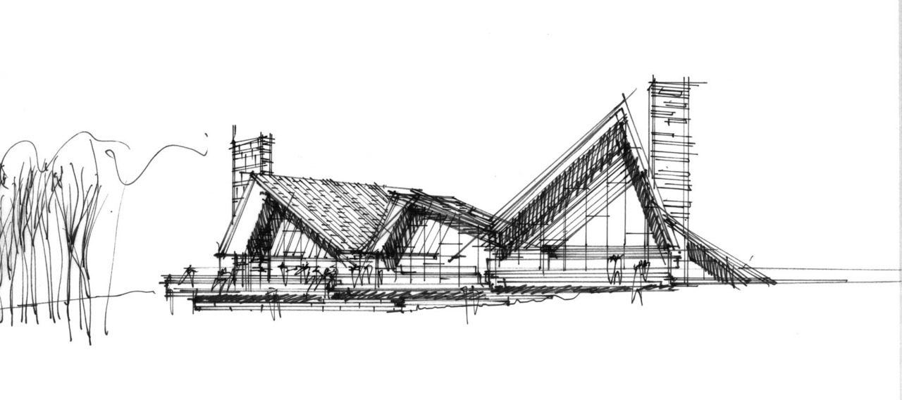 BLACK & WHITE SKETCHES | 222 | HENNING LARSEN | SOURCE