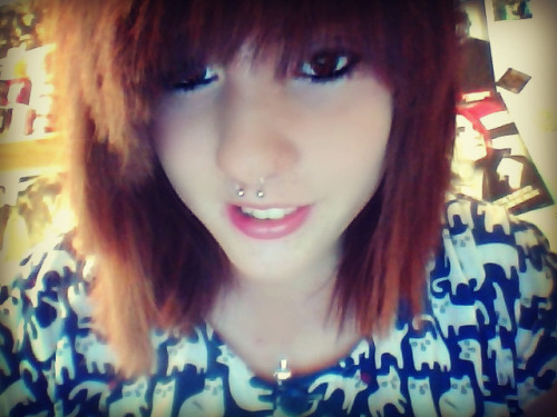 My septum piercing hurted :P