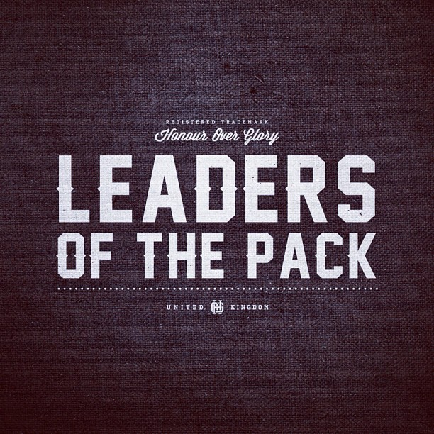 iconrevolution:  'Leaders' Typographic design for Honour Over Glory www.honouroverglory.com
