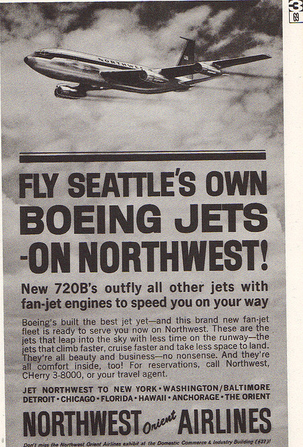 Northwest Orient Airlines Ad by slade1955 on Flickr.206 Represent!