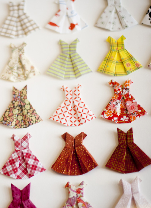How cute are these little origami dresses spotted at LA vintage shop, 33 Rooms? For more recommendations, check out our latest stylebook, Adventures in Style»