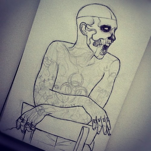 Rick Genest (unfinished) (Taken with instagram)