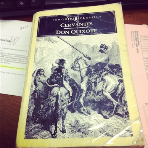 Downtime at work. Time to read! 📖🇪🇸🇪🇸 #DonQuixote #books (Taken with instagram)