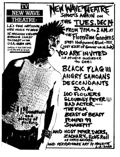 seabass1313:  New Wave Theater flyer….don't be a gerkin!!!