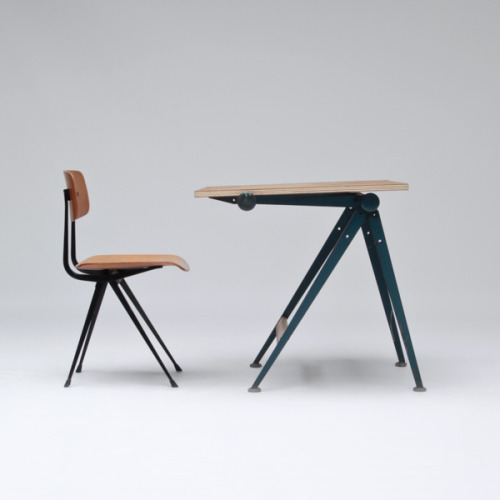 Drafting Table And Chair -Wim Rietveld and Friso Kramer