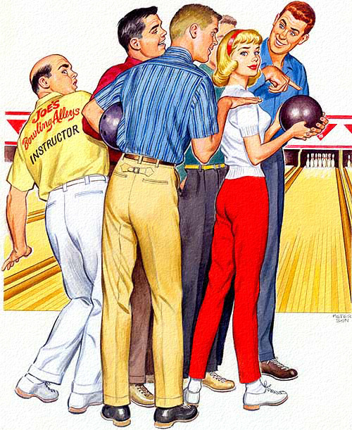 A Multitude of Instructors, art by K Gunnor Petersen - 1959