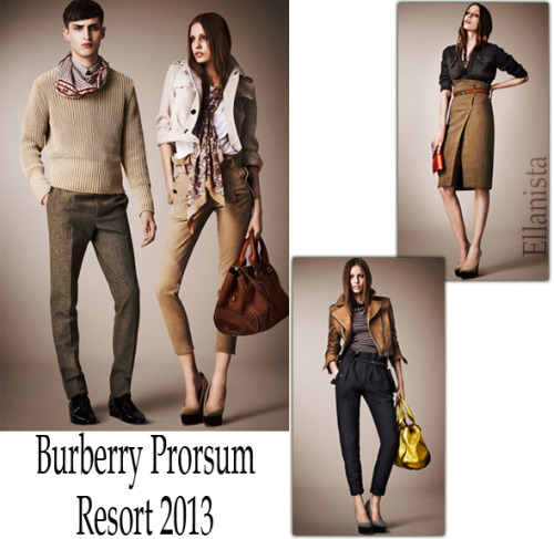"Burberry Prorsum Resort 2013 ""Sensual strictness"""