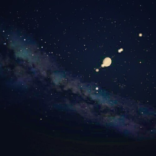 Life on Titan #stellarium #titan #saturn #space #night #stars #milkyway #solarsystem (Taken with instagram)