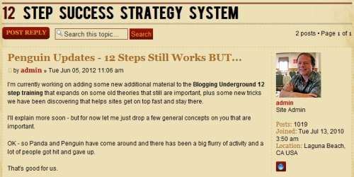 Blogging still works! Links in blogs still are magical! Yes - there are some changes - read all about it! > Penguin Updates at Blogging Underground