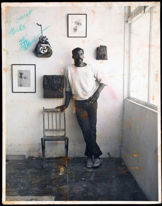 lajetee:  Ed Bereal in His Studio by  Jerry McMillan. 1961
