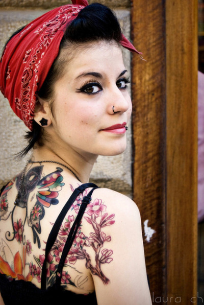 cute girl with tattoo & piercings body jewelry visit website
