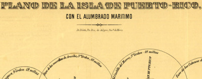 Map: Lighthouses in Puerto Rico (1900s) originally posted to the BIG Map Blog.