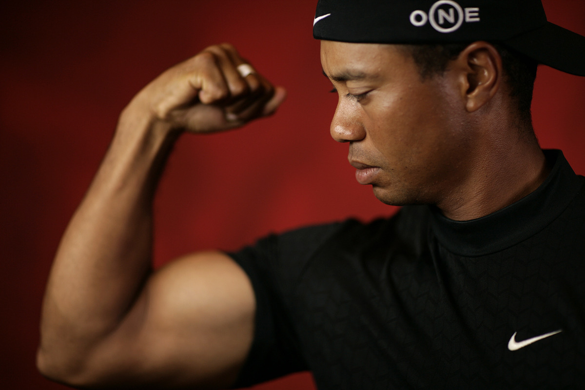 Tiger Woods photographed by Walter Iooss Jr. for Golf Digest.