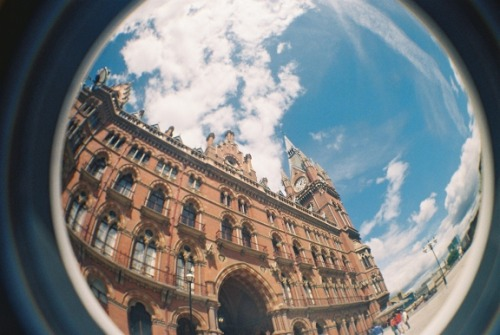 littlenamelessunrememberedacts:  A fisheye view of St Pancras