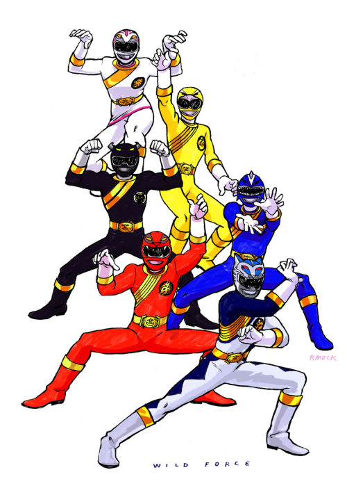 everysinglepowerranger:  09: POWER RANGERS WILD FORCE The last series produced by Saban Entertainment (before Saban was bought up by Disney and production of Power Rangers was moved to New Zealand). It marked the 10th anniversary for Power Rangers and featured the epic team-up episode Forever Red, with all previous Red Rangers joining up in the most awesome roll call.  Their suits were wicked. reference: (x)