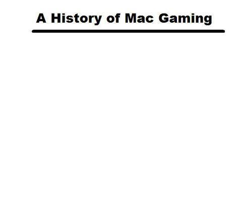 History of Mac Gaming