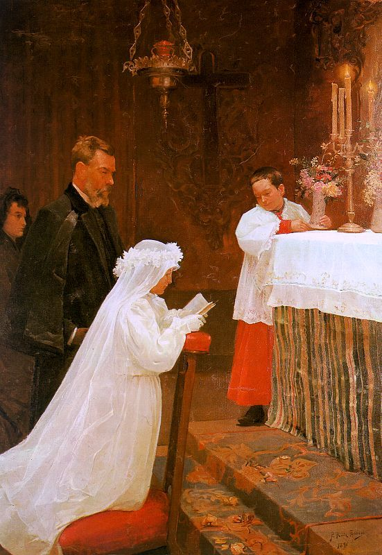 First Communion, 1895-96, oil on canvas, MuseoPicasso, Barcelona.