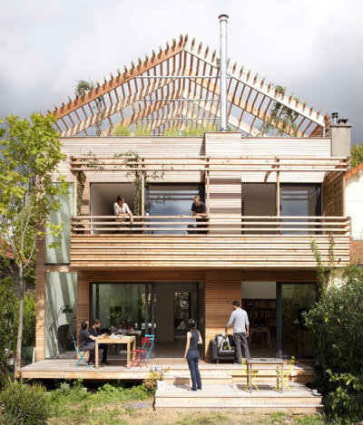 Sustainable Eco-House in Paris with a Flexible Layout